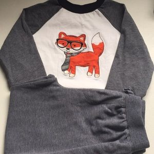 4T boys 2pc set. Fox with glasses